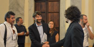il Min. Franceschini e il d.a. Fara Music Enrico Moccia