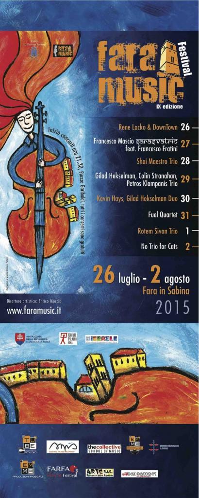 fara music 2015, il programma