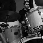 Drumming... Che Fatica... Zadeno Trio at Tube Recording Studio.